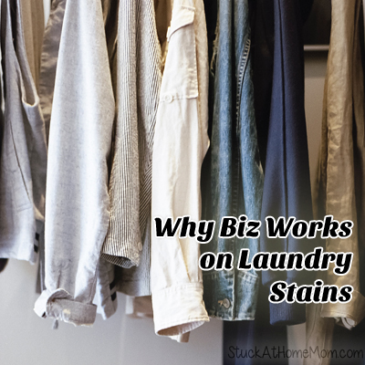Why Biz Works on Laundry Stains #ad