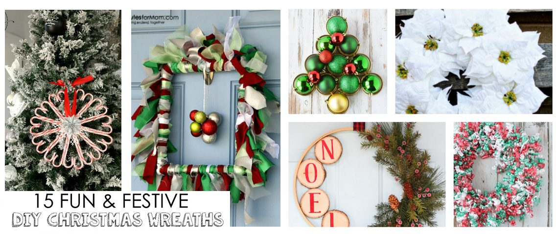 14 Fun & Festive DIY Christmas Wreath Ideas