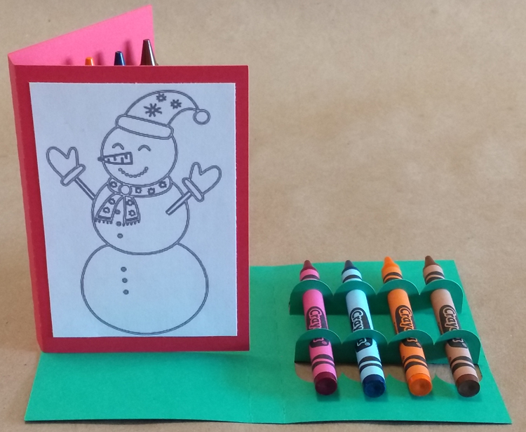 Christmas Crayon Card - Free Printable / Cuttable SVG Template - Silhouette, Cricut, SVG Cutters