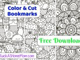 FREE Printable Cut & Color Bookmarks (pdf) #1