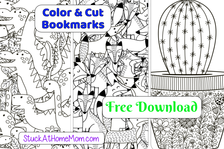 FREE Printable Cut & Color Bookmarks (pdf) #2