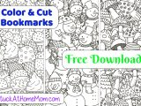 FREE Printable Cut & Color Bookmarks (pdf) #3