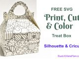 FREE SVG Print, Cut & Color Treat Box for Silhouette & Cricut (SVG & .studio3)