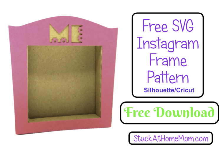 FREE SVG Instagram Frame Template for Silhouette & Cricut (SVG & .studio3)