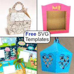 Free SVG Templates Silhouette & Cricut SVG & .studio3