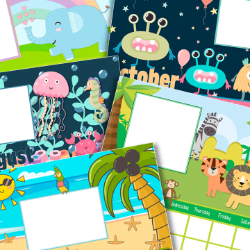 FREE Printable Babies First Year Calendar (pdf, jpg, png)