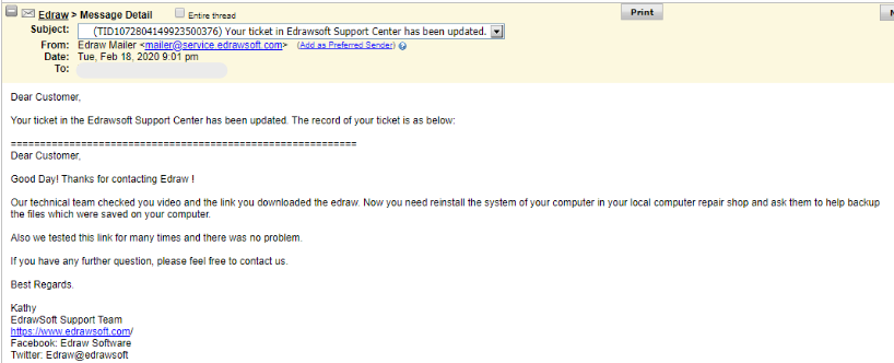 Edraw Do Not Install Software