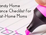 Handy Home Maintenance Checklist for Stay-at-Home Moms