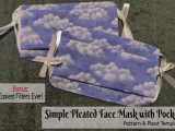 Simple Pleated Face Mask with Pocket Pattern & Pleat Template Bonus: Easiest Filters Ever!