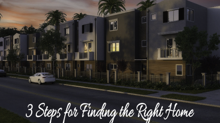 3 Steps for Finding the Right Home