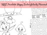 FREE Printable Hoppy Easter Activity Placemat #3