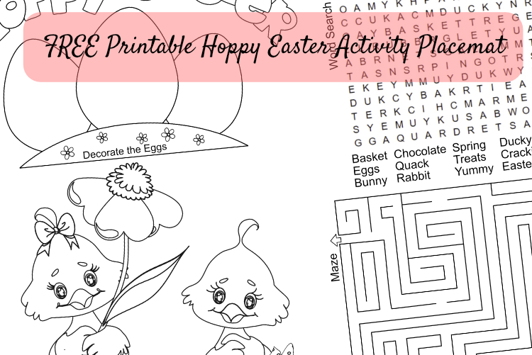 FREE #Printable Hoppy Easter Activity Placemat #3
