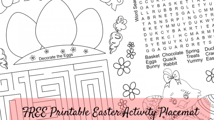 FREE Printable Easter Activity Placemat #2