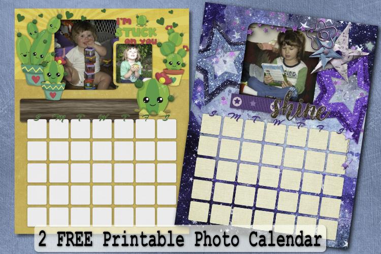 2 Free Printable Photo Calendar – Calendar Pack 2 with Months